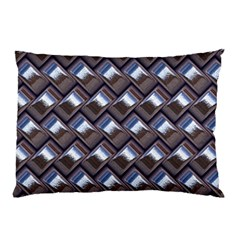 Metal Weave Blue Pillow Cases (Two Sides)