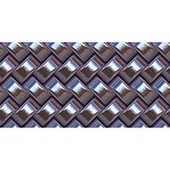 Metal Weave Blue YOU ARE INVITED 3D Greeting Card (8x4)