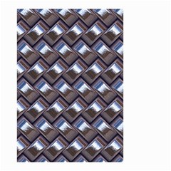 Metal Weave Blue Small Garden Flag (two Sides)