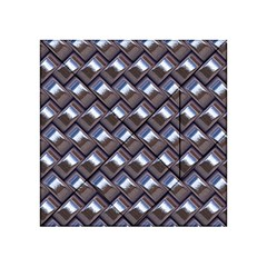 Metal Weave Blue Acrylic Tangram Puzzle (4  X 4 )