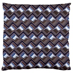 Metal Weave Blue Large Cushion Cases (Two Sides)