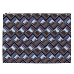 Metal Weave Blue Cosmetic Bag (XXL)