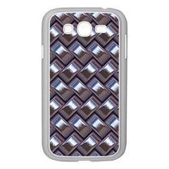 Metal Weave Blue Samsung Galaxy Grand DUOS I9082 Case (White)