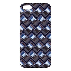 Metal Weave Blue iPhone 5S Premium Hardshell Case