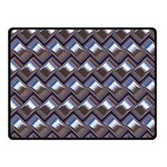 Metal Weave Blue Double Sided Fleece Blanket (Small)