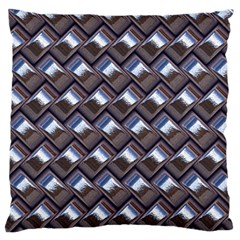Metal Weave Blue Standard Flano Cushion Cases (One Side)