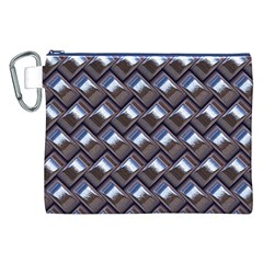 Metal Weave Blue Canvas Cosmetic Bag (XXL)