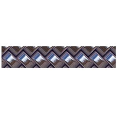 Metal Weave Blue Flano Scarf (Large)