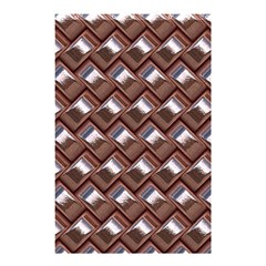 Metal Weave Pink Shower Curtain 48  X 72  (small)