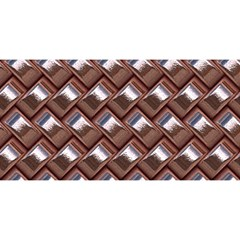 Metal Weave Pink You Are Invited 3d Greeting Card (8x4)