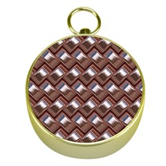 Metal Weave Pink Gold Compasses