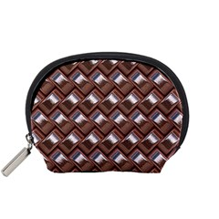 Metal Weave Pink Accessory Pouches (small)