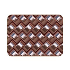 Metal Weave Pink Double Sided Flano Blanket (Mini)