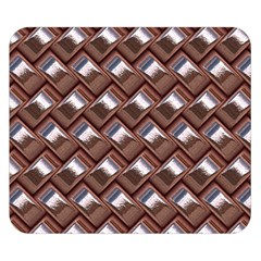 Metal Weave Pink Double Sided Flano Blanket (small)