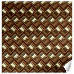 Metal Weave Golden Canvas 12  x 12