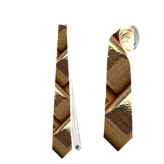 Metal Weave Golden Neckties (One Side)