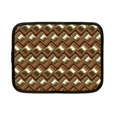 Metal Weave Golden Netbook Case (Small)