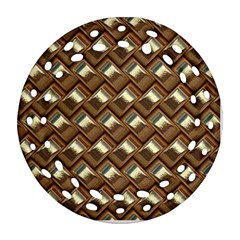 Metal Weave Golden Ornament (round Filigree)