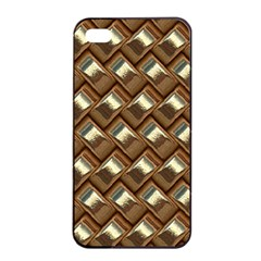 Metal Weave Golden Apple iPhone 4/4s Seamless Case (Black)