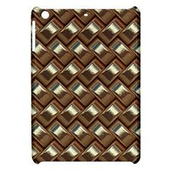 Metal Weave Golden Apple iPad Mini Hardshell Case