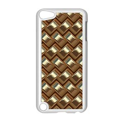 Metal Weave Golden Apple iPod Touch 5 Case (White)