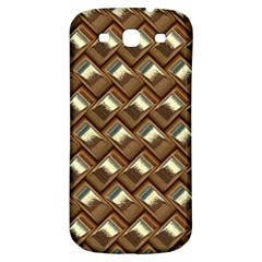 Metal Weave Golden Samsung Galaxy S3 S III Classic Hardshell Back Case