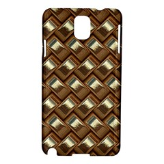 Metal Weave Golden Samsung Galaxy Note 3 N9005 Hardshell Case