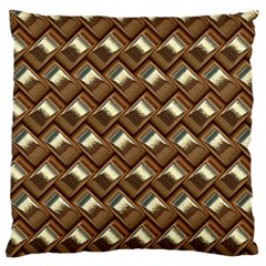 Metal Weave Golden Standard Flano Cushion Cases (One Side)