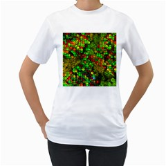 Artistic Cubes 01 Women s T Shirt (white) (two Sided)