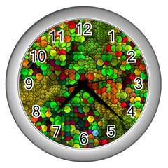 Artistic Cubes 01 Wall Clocks (Silver)
