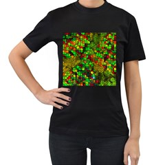 Artistic Cubes 01 Women s T Shirt (black) (two Sided)