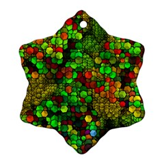 Artistic Cubes 01 Snowflake Ornament (2-Side)