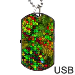 Artistic Cubes 01 Dog Tag USB Flash (One Side)