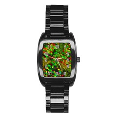 Artistic Cubes 01 Stainless Steel Barrel Watch