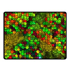 Artistic Cubes 01 Double Sided Fleece Blanket (small)