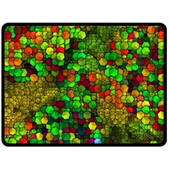 Artistic Cubes 01 Double Sided Fleece Blanket (large)