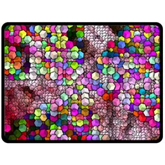 Artistic Cubes 3 Fleece Blanket (large)