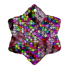 Artistic Cubes 3 Snowflake Ornament (2-Side)