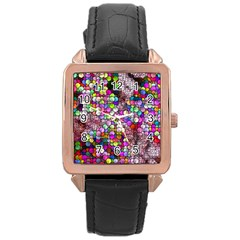 Artistic Cubes 3 Rose Gold Watches