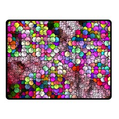 Artistic Cubes 3 Double Sided Fleece Blanket (small)