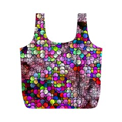 Artistic Cubes 3 Full Print Recycle Bags (M)