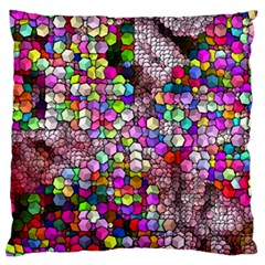 Artistic Cubes 3 Large Flano Cushion Cases (two Sides)