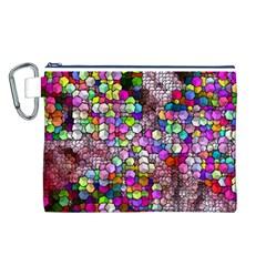 Artistic Cubes 3 Canvas Cosmetic Bag (L)