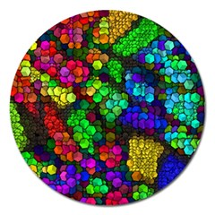Artistic Cubes 4 Magnet 5  (Round)