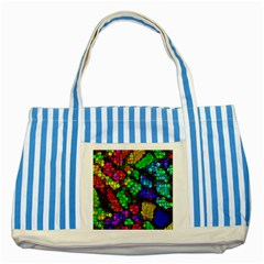 Artistic Cubes 4 Striped Blue Tote Bag