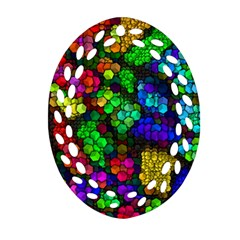 Artistic Cubes 4 Ornament (oval Filigree)