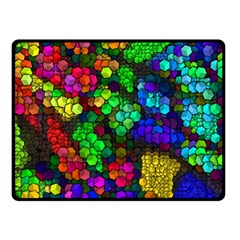 Artistic Cubes 4 Double Sided Fleece Blanket (Small)