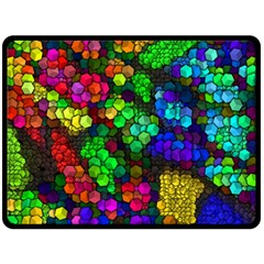 Artistic Cubes 4 Double Sided Fleece Blanket (Large)