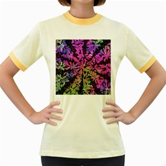 Artistic Cubes 5 Women s Fitted Ringer T Shirts