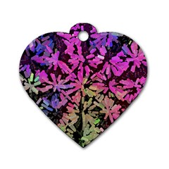 Artistic Cubes 5 Dog Tag Heart (One Side)